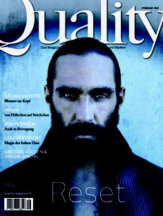 Quality Reset, Ausgabe 29  Foto: Oliver Rauh Fashion Mag, Men Fashion, Magazine Cover Design, Wicked, Movie Posters, Image, Man Fashion, Film Poster, Popcorn Posters