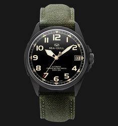 Seagull 813.581H - Automatic Mechanical Black Special Military Edition