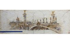 Pont Alexandre III (110 x 170 cm.), óleo con técnica mixta sobre madera, febrero 2012.