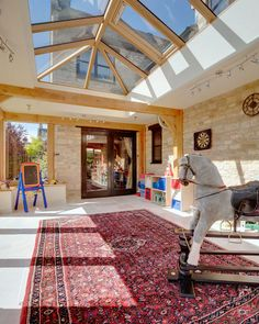 Suitable for use all year round, the orangery will never get too hot in the… Conservatory Extension, Cottage Extension, Conservatory Ideas, Oak Framed Extensions, Kitchen Extensions, Extension Ideas, Rose Cottage, Luxury Decor, Window Design