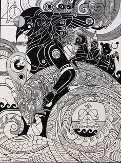 Fernando Chamarelli - O Dragão de Todo Mundo - Ink on paper - 21x29 cm- 2015