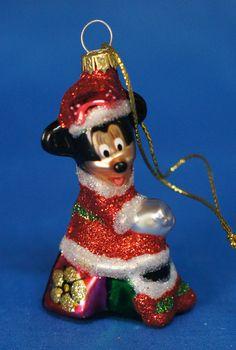 "Minnie Mouse 2-1/2"" Blown Glass Ornament Figurine Disney Parks 2011 #DisneyStore"