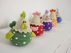 Global shipping - free pattern with your order! Crochet fun, the number 1 for crocheting! Easter Crochet, Crochet Crafts, Crochet Dolls, Crochet Projects, Crochet Motif, Free Crochet, Knit Crochet, Crochet Patterns, Afghan Patterns