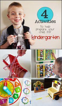 4 Activities to Help Prepare Your Child for Kindergarten *Great back to school resource for parents