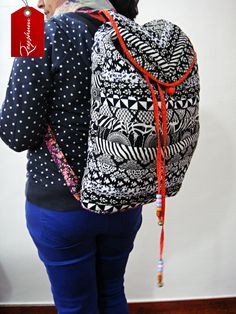 Cool & Trendy #Rucksack B#ackpack - Cheery Patchwork Rucksack - Fashionable Carry All - Pull String Rucksack #Bags at our @Etsy store etsy.me/1sjC784
