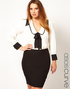 ASOS CURVE Exclusive Blouse With Contrast $53.02