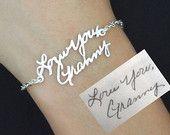 SALE Signature Bracelet in Sterling Silver/Personalized Signature Bracelet/Handwriting/Keepsake Bracelet/Bridesmaid Gift/Mother Gift