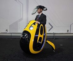 Hyundais E4U personal mobility vehicle concept unveiled in Seoul (Photo: Nikkei Tech-On...