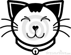 A set of cat flat icon illustration including cat expression and cat accessories with solid line and color.