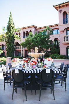 Exquisite wedding Magazine feature. Tabletops: A Fashionable Twist. San Diego floral designer Kimberly Buffington FlowerChildSanDiego.com
