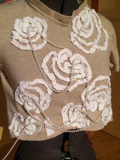 alabama chanin inspired sweater