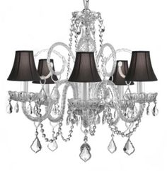 Gallery Muran Venetian Style Crystal Chandelier with Shades - BedBathandBeyond.com
