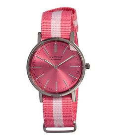 Take a look at this Axcent of Scandinavia Pink Vintage Watch by Axcent of Scandinavia on #zulily today!