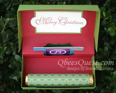 Qbee's Quest: Pop-Up Gift Card Box Tutorial wit room for rollos or life-savers!