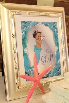 Mermaid Baby Shower Party Ideas | Photo 5 of 23