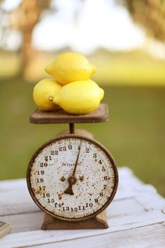 Lemon and Vintage Decor