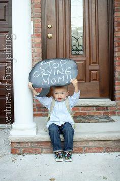 Back to School / First Day of School Photo Ideas - Chalkboard Sign by bernadette