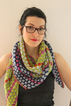 "Ravelry: Ice Cream Shawl pattern by Lisa Hannes | Any weight | ""Scoop stitch"""
