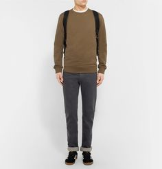 This loopback cotton-jersey sweatshirt from Parisian brand <a href='http://www.mrporter.com/mens/Designers/APC'>A.P.C.</a> will make a timeless addition to your weekend wardrobe. Cut in a slim shape, it will look just as good paired with sweatpants for lazy days at home as it will with denim when you're out and about. Complement the earthy colour with dark shades of blue and green.