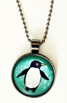 Glass Penguin Necklace