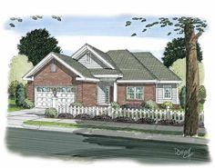 Traditional House Plan with 1121 Square Feet and 3 Bedrooms(s) from Dream Home Source | House Plan Code DHSW75240