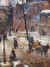 Street in Amsterdam, Piet van der Hem, 1909