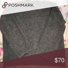 Madewell gray wool sweater High crew neck, wool Madewell sweater. Slightly a-line with side seams and an easy to tuck high-low hem. Madewell Sweaters Crew & Scoop Necks