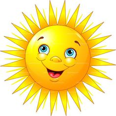 Buy Smiling Sun by Dazdraperma on GraphicRiver. Illustration of smiling sun character. Emoticon Feliz, Clipart Smiley, Cartoon Sun, Sun Illustration, Character Illustration, Sun Stock, Emoji Symbols, Smiley Emoji, Smiley Faces