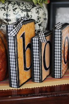 wood blocks for halloween#Repin By:Pinterest++ for iPad#