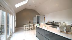 Modern kitchen. Our Latest house extension in Clackmannanshire
