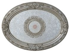 DIA Champagne Silver Oval Ceiling Medallion DIY Decorative Lighting - World of Decor Ceiling Medallion Art, Ceiling Medallions, Ceiling Decor, Ceiling Lights, Frames Direct, Ceiling Fan Downrod, Canopy Lights, Moldings And Trim, Royal Design