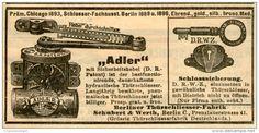 Original-Werbung/ Anzeige 1903 - THUERSCHLIEESER ADLER / SCHUBERTH & WERTH BERLIN - ca. 100 x 45 mm