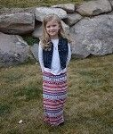 Maxi Skirt Girl  - Red/Blue/White Aztec only $9.99 at www.gabskia.com also like us on facebook  https://www.facebook.com/gabskiaccessories