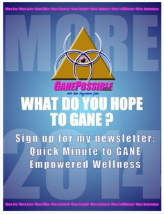 Talking about MORE in 2014! What do YOU hope to GANE? GANEPossible.com launches in January!  GANE Empowered Wellness | GANE Insight | GANE Momentum