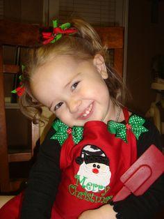 Zebra Santa Childrens Apron! Find me on facebook at the Ruffled Rose Bowtique!