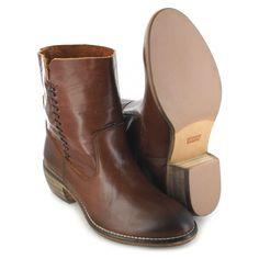 Levi´s Footwear JUNIPER Brown Damenstiefelette - braun | Trendiger Damen Boot aus Leder Levis Skinny, Fashion Boots, Chelsea Boots, Ankle, Shoes, Zapatos, Wall Plug, Shoes Outlet, Shoe