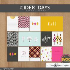 Cider Days: Journal Cards by Alison Pennington at The Lilypad