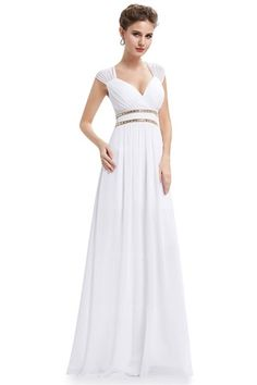 A-Line/Princess Straps Floor-length Chiffon Wedding Dress