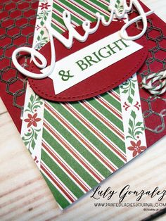 Painted Ladies Journal: Merry Christmas Thinlits, Stampin Up Painted Ladies, Mini Albums, Digital Scrapbooking, Stampin Up, Merry Christmas, Card Ideas, Merry Christmas Background, Wish You Merry Christmas, Extended Play