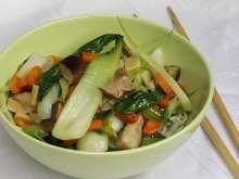 Kapusta pak choi s hubami shiitake Pak Choi, Tacos, Mexican, Chicken, Meat, Ethnic Recipes, Food, Essen, Yemek