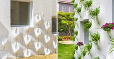 Every time itrains, these notches onthe walls turn into vases full ofbeautiful flowers