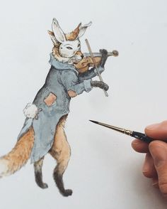 Who else is joining the party? Forest Illustration, Illustration Sketches, Watercolor Journal, Watercolor Art, Animal Drawings, Art Drawings, Fairytale Art, Freelance Illustrator, Pet Portraits