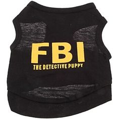 5.91$  Buy here - http://di6pb.justgood.pw/go.php?t=176200702 - Stylish Pet Supplies Letter Printing Vest Black Puppy Clothing 5.91$