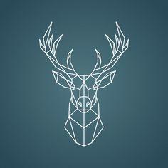 Hirsch Illustration, Deer Illustration, Geometric Deer, Geometric Shapes, Geometric Designs, Deer Design, Design Art, Hirsch Tattoo, Wallpaper Earth
