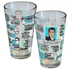 Archer Quote Pint Glass | Shows Archer | FX Shop