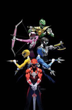 Mighty Morphin Power Rangers 2017 Annual (Cover B Dan Mora) Power Rangers 2017, Power Rangers Tattoo, Power Rangers Poster, Power Rangers Fan Art, Power Rangers Comic, Mighty Morphin Power Rangers, Kamen Rider, Comic Books Art, Comic Art