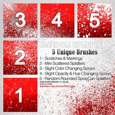 We bring to you 25 beautiful ink, paint and blood splatter brushes, along with watercolor brushes for Photoshop.
