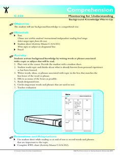 The student will use background knowledge to comprehend text.