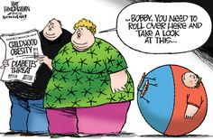 """""""Dangerously Obese Children"""" by Walt Handelsman (May Bios Life Slim and Lean Complete from Unicity will help you lose weight safely and effectively. Weight Loss Humor, Medical Weight Loss, Weight Loss Meal Plan, Easy Weight Loss, How To Lose Weight Fast, Weight Log, Student Planner Printable, Childhood Obesity, Coach Me"""
