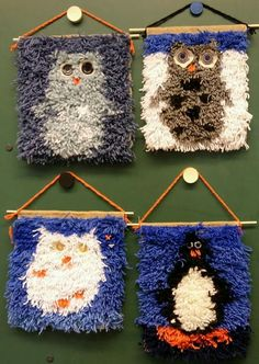 Crafts To Do, Crafts For Kids, Arts And Crafts, Yarn Wall Hanging, Textiles, Rug Hooking, Loom, Crochet Necklace, Presents